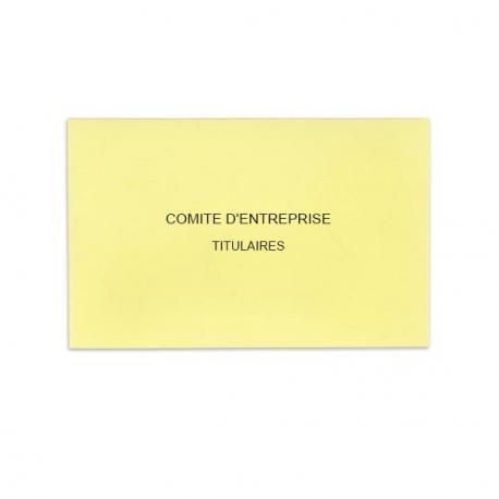 Comité d'Entreprise Jaune Clair