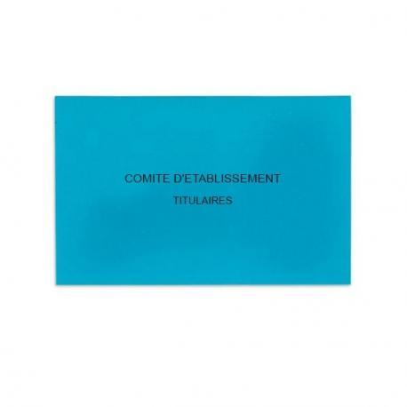 Comité d'Etablissement Bleu Vif