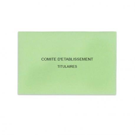 Comité d'Etablissement Vert Clair