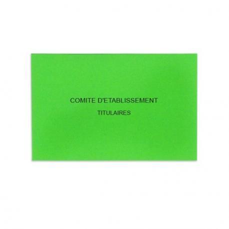 Comité d'Etablissement Vert Vif