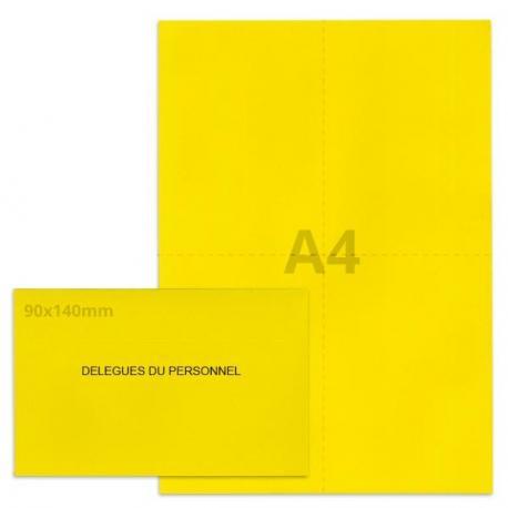 Kit élection délégués du personnel jaune vif
