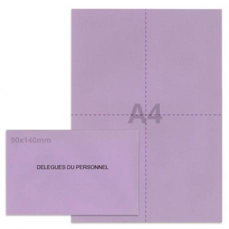 Kit élection délégués du personnel lilas