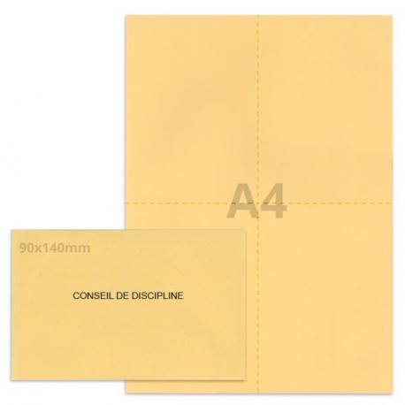 Kit élection conseil de discipline beige