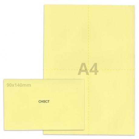 Kit élection chsct jaune clair