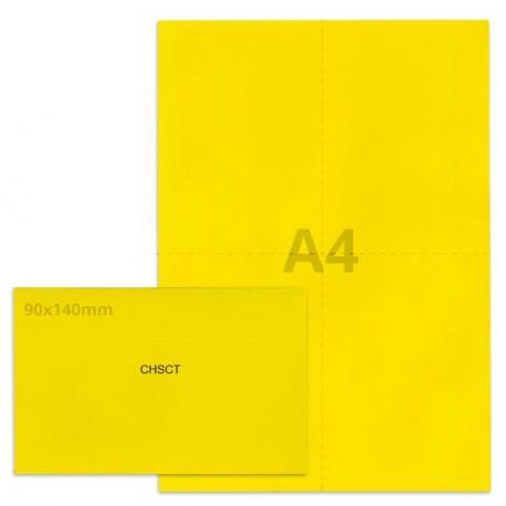 Kit élection chsct jaune vif