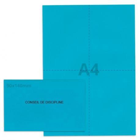 Kit élection conseil de discipline bleu vif