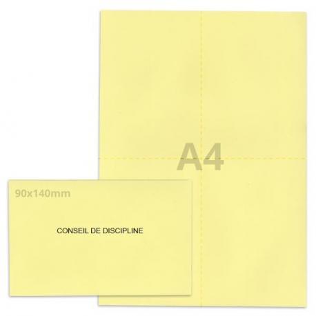 Kit élection conseil de discipline jaune clair