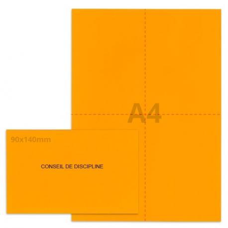 Kit élection conseil de discipline orange