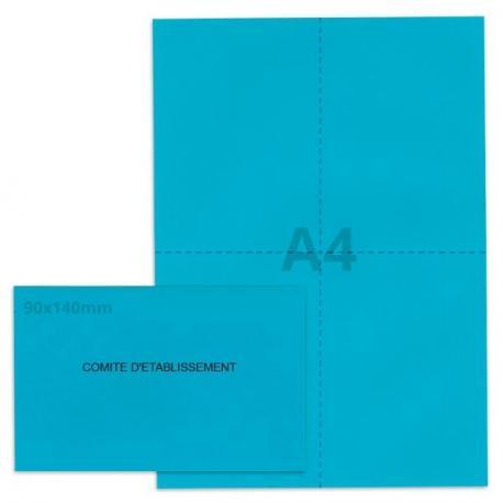 Kit élection comité d'établissement bleu vif