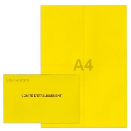 Kit élection comité d'établissement jaune vif