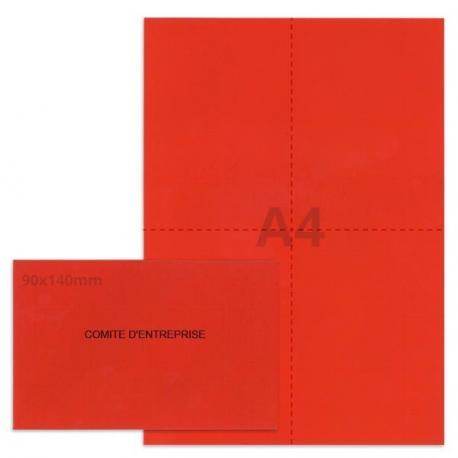Kit élection comité d'entreprise rouge