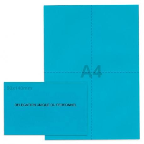 Kit élection DUP bleu vif