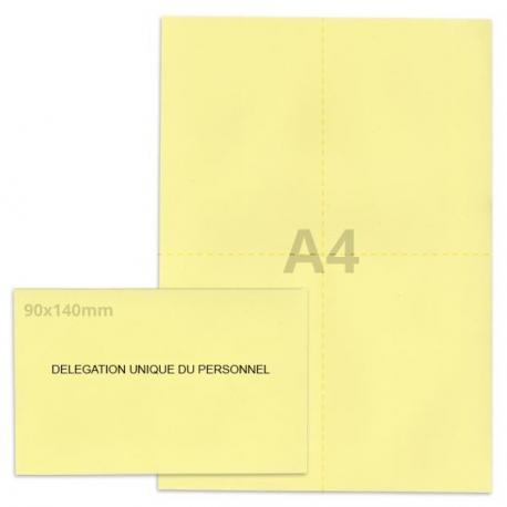 Kit élection DUP jaune clair