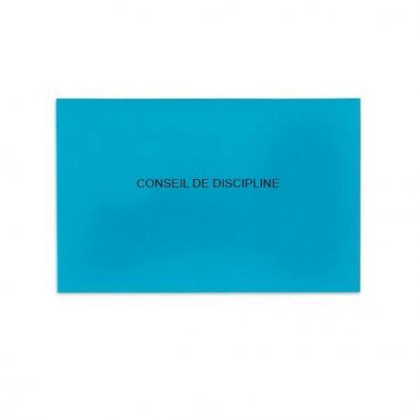 Conseil de discipline bleu vif