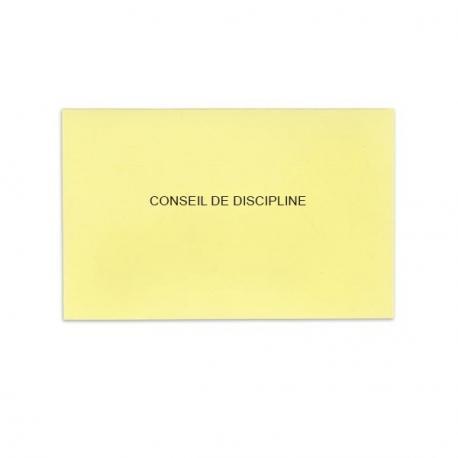 Conseil de discipline jaune clair