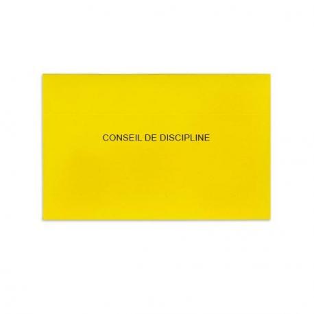 Conseil de discipline jaune vif