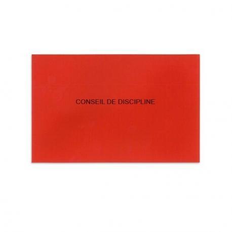 Conseil de discipline rouge
