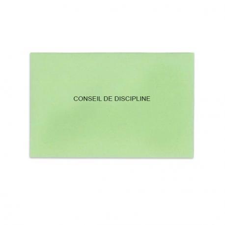 Conseil de discipline vert clair