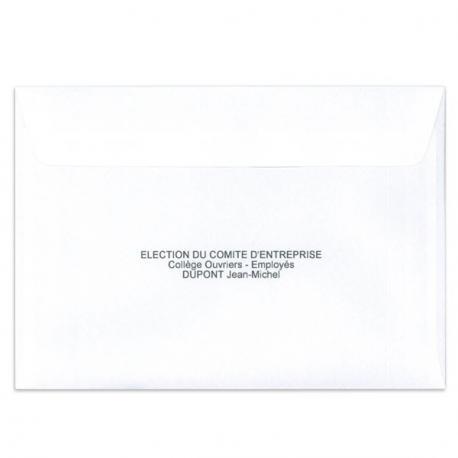 Enveloppes d'identification personnalisable
