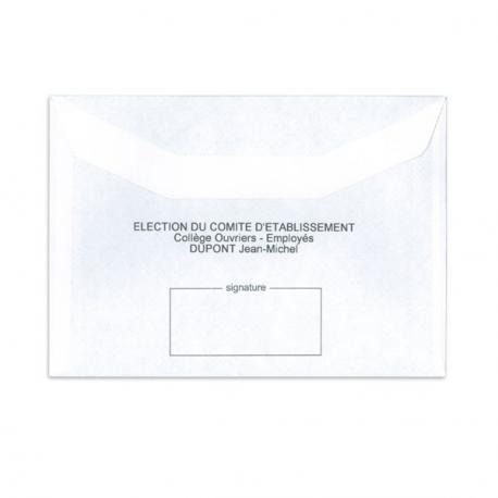 Enveloppes d'émargement - E1P