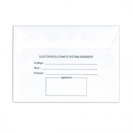 Enveloppes d'émargement - E1S