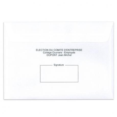 Enveloppes d'émargement personnalisable