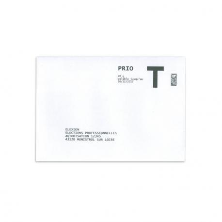 Enveloppe de retour lettre t 114x162 c6 sas elexion - Impression photo gratuite sans frais de port ...