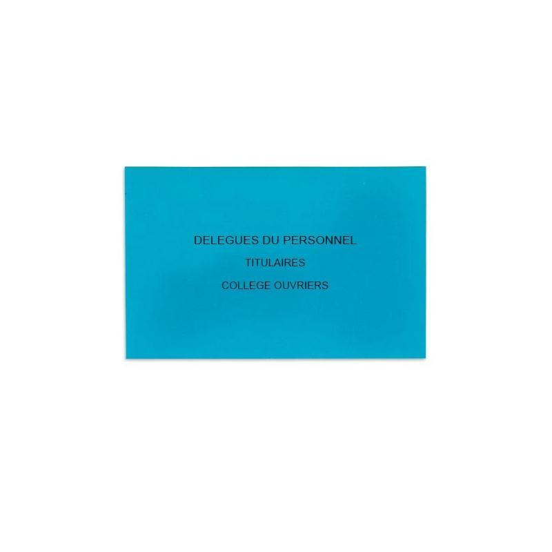 Enveloppes De Vote Pour L Election Des Delegues Du Personnel Bleu Vif