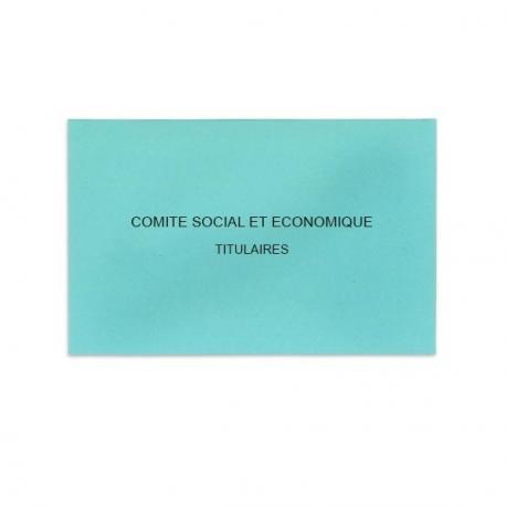 Comité Social et Economique bleu clair