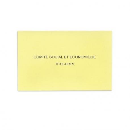 Comité Social et Economique jaune clair