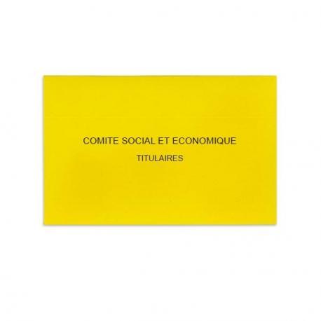 Comité Social et Economique jaune vif