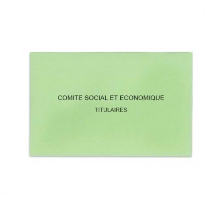 Comité Social et Economique vert clair