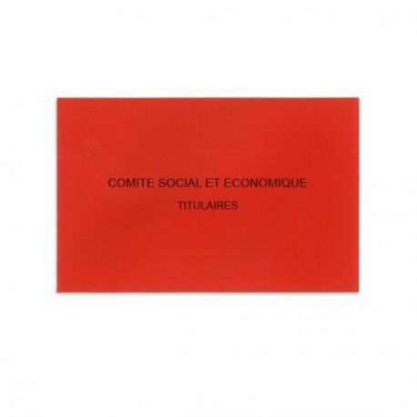 Comité Social et Economique rouge