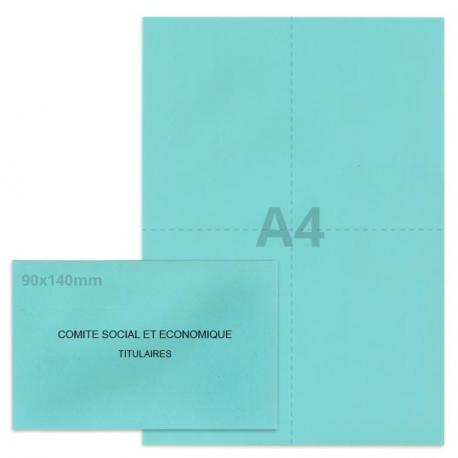 Kit élection Comité Social et Economique bleu clair