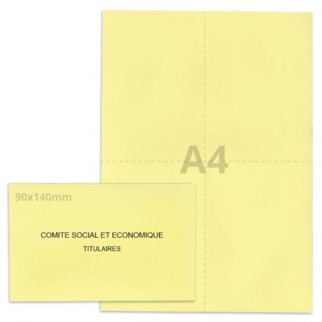 Kit élection Comité Social et Economique jaune clair