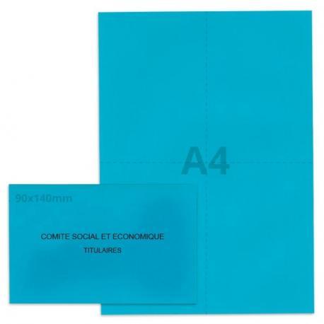 Kit élection Comité Social et Economique bleu vif