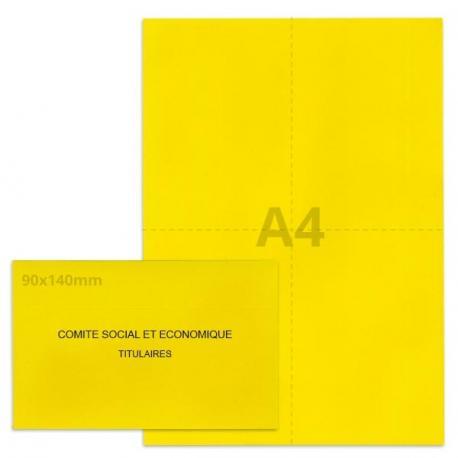 Kit élection Comité Social et Economique jaune vif