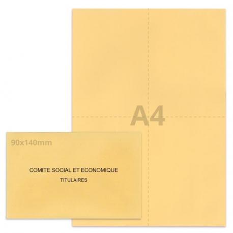 Kit élection Comité Social et Economique beige