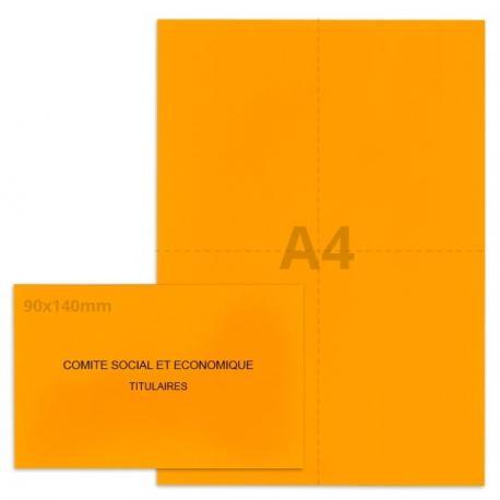 Kit élection Comité Social et Economique orange