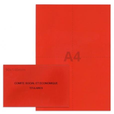 Kit élection Comité Social et Economique rouge