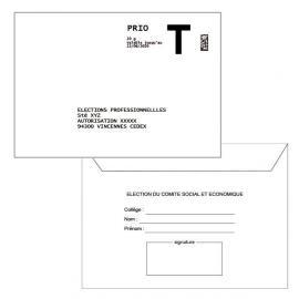 """Enveloppe Retour Lettre T 114x162 mm + émargement à compléter """"COMITE SOCIAL ET ECONOMIQUE"""""""