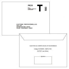 Retour Lettre T + émargement personnalisé 114x162 - COMITE SOCIAL ET ECONOMIQUE
