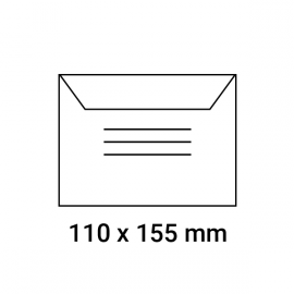 Enveloppes d'identification pré-imprimés 110x155